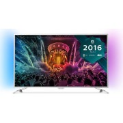 "Televizor LED Philips 109 cm (43"") 43PUS6501, Ultra HD 4k, Smart TV, WiFi, Android TV, Ambilight (Argintiu) + Voucher Cadou 50% Reducere ""Scoici in Sos de Vin"" la Restaurantul Pescarus"