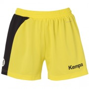Kempa Damen-Short PEAK - limonengelb/schwarz   L