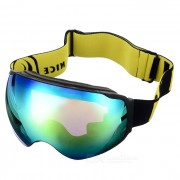 SEA AGRADABLE SNOW4200 anti-niebla de lente esferica anteojos del esqui - Negro