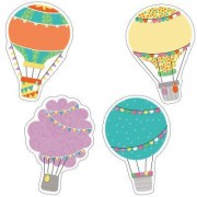 Up and Away Hot Air Balloons Cut-Outs