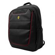Ferrari Scuderia Backpack - дизайнерска водоустойчива ергономична раница за преносими компютри до 15.6 инча (черна)