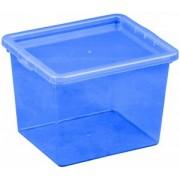 Cutie depozitare cu capac 3 litri albastru inchis