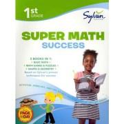 First Grade Super Math Success (Sylvan Super Workbooks) by Sylvan Learning
