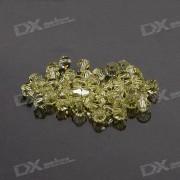 Austria Ornamental DIY Crystal Beads Yellow (50-Pack)