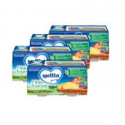 Mellin Omogeneizzati di frutta - Kit risparmio 4x Mela Ananas - KIT 4x Confezione da 200 g ℮ (2 vasetti x 100 g)