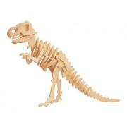 D-14-1 Diy 3D Wooden Dinosaur Animal Puzzle Mini Tyrannosaurus Rex Model Safe Friendly-Environmental Simulation Intelligence Toys For Kids Children