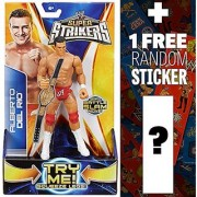 Alberto Del Rio ~7 Action Figure: WWE Super Strikers Action Figure Series + 1 FREE Official WWE Mini-Sticker Strip Bundle