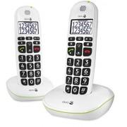 Doro Phone Easy 110 Juego de 2 terminales de teléfono, color blanco (importado)
