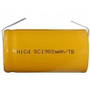 Bateria Sub-C 1.2 Voltios 2000 mAh NI-CD 42,7x23mm C/lenguetas