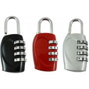 DOCOSS Set Of 3-4 Digit Brass Small Bag Locks Travel Luggage Resettable Password Combination Safety Lock(Multicolor)