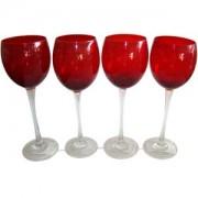 Jogo Taças Vermelho c/ 4 água Ref:6712