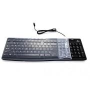 Ultra Thin Soft Keyboard Silicone Protector Skin for Logitech K200 MK200 K260 MK260 K270 MK270 Keyboard (Clear)