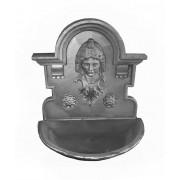 Fonte para parede Cara de Mulher em ferro