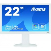 "Monitor TN iiyama 21.5"" ProLite B2280HS-W1, Full HD (1920 x 1080), DVI-D, HDMI, 5ms, Boxe (Alb) + Bitdefender Antivirus Plus 2017, 1 PC, 1 an, Licenta noua, Scratch Card"
