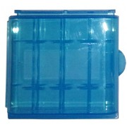 Estuche organizador de plástico AZUL para 4 Pilas AA / AAA
