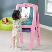 Step2 Marker Tray Folding Magnetic Board Easel 885200 Color: Pink