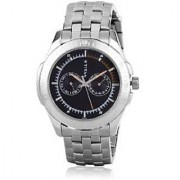 Titan Quartz Black Round Men Watch 1587SM03
