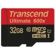 Card de memorie Transcend microSDHC, 32GB, UHS-I, 600x