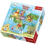 Disney, Winnie the Pooh, 3-en -1 Puzzle/Sierras de Trefl 20,36,50 piezas