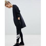 Nike Leg A See Leggings In Black With Futura Logo - Black/(white) (Sizes: XS, M, XL, S, L)