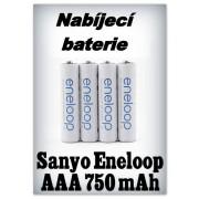 Baterie Sanyo (Panasonic) Eneloop AAA 750 mAh NiMH - 1,2V (4 ks)