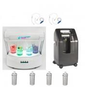 Package Bar à oxygène VIP1 avec générateur d'oxygène 5l/min, station oxygène et casques inhalateurs
