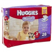 Huggies Diapers Little Movers Disney Size 3 (16-28 lb) 28 CT (Pack of 4)