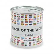 Puzzel Magnetische puzzel Vlaggen van de Wereld   Extragoods