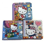Hello Kitty Bath Time Bubble Books Three Piece Set- Seaons At The Circus and Around The World