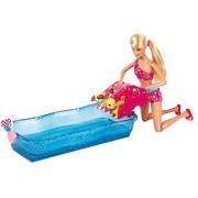 Barbie Swim and Race Pups Playset