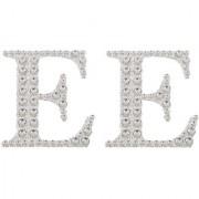 Magideal 2Pcs Self Adhesive Letters Diamante Post Box Favour Embellishment Crafts E