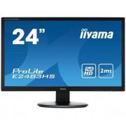 24' LED - ProLite E2483HS-B1 - 1920 x 1080 pixels - 2 ms - Format large 16/9 - Dalle TN LED - HDMI - Noir