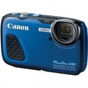 Aparat foto subacvatic Canon PowerShot D30 : 12.1 MPx, 5x Zoom, LCD 3, GPS, FullHD, Japan - Blue