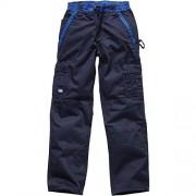 Dickies Industry Pantalones de trabajo, 60, azul marino/azul eléctrico