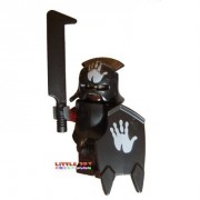 LEGO Lord of The Rings Minifigure: URUK-HAI with Blanco Hand Helmet and Shield Sword and Armour