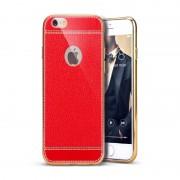 Husa Iphone 6/6S Spate tip Piele - Rosu