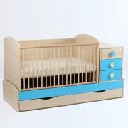 Bebe Design Patut Transformer Pastel cu leganare silence 170/70 PTP01.09