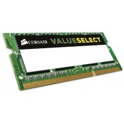 Corsair CMSO4GX3M1C1333C9 Value Select Modulo di Memoria da 4 GB, DDR3L, 1333 MHz, CL9, SODIMM, Nero