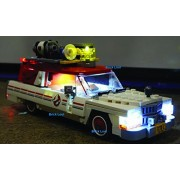 Ghostbusters Ecto1 & 2 Lighting Kit for LEGO 75828 set (Ecto 1-2 car not included by Brick Loot)