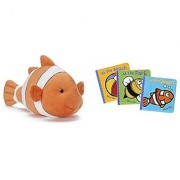Kohl's Cares Clownfish Plush Toy plus In the Ocean At the Beach and At the Park Book Trio Set