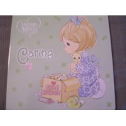 Precious Moments Board Book ~ Caring (2010) (Green Cover)