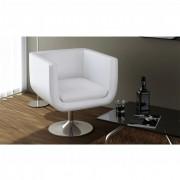 vidaXL Nastavitelná moderní bílá barová židle s chromovou základní