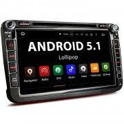 """VW-06AEU: 2DIN Android 5.1 Navi Autoradio mit 8 Zoll Touchscreen Monitor, Bluetooth, SD und USB (B-Ware)"""