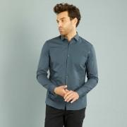 Slimfit overhemd van katoen
