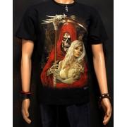 Koszulka świecąca w ciemności marki Rock Eagle - ŚMIERĆ Z KOBIETĄ