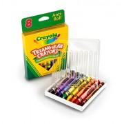 Crayola. 524008 triangulares Crayons, 8 colores / caja