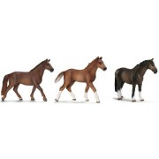 Schleich Hanoverian Horse Set - Includes Stallion Mare and Foal
