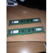 Kingston - DDR3 - 2 Go - DIMM 240 broches - 1333 MHz / PC3-10600 - pour HP 4000, 6200, 8200, Elite 8000; Elite 7200; Pavilion p6239, p6249, p6306, p6311; Pro 31XX