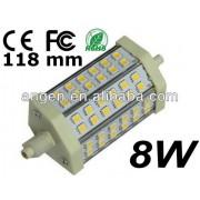 Lampara led R7S de 118mm sms2835 Epistar 8w luz calida 3000k