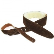 Perris Leathers DL325S-201 2.5-Inch Soft Suede Guitar Strap with Sheep Skin Pad
